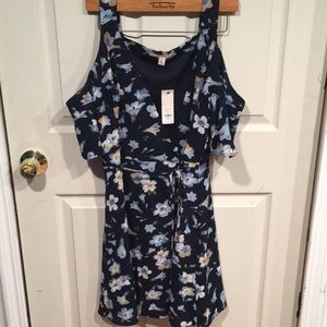 New! Francesca's Floral Wrap Dress